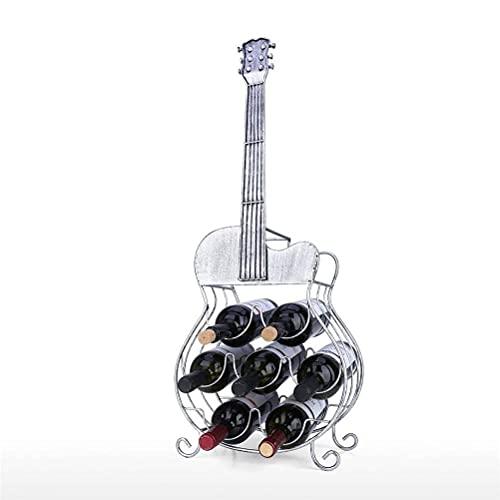 JJYGONG Estante de Vino, 7 Botellas de Guitarra Decoración de Guitarra Moderno Estante de Vino Mandicida Mantenimienta Y Alenamiento Decoración Del Hogar Creatividad