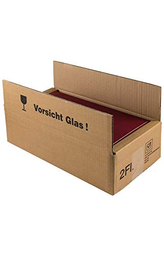 5 Stück/Set. 2er Versandkarton für Weingeschenkkartons/Geschenkverpackungen