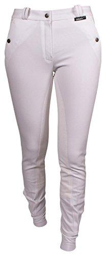 Modische CATAGO CPH Reithose in Weiß - Langgröße - Vollbesatz, komfortable Vollbesatzreithose, Größe 42/84