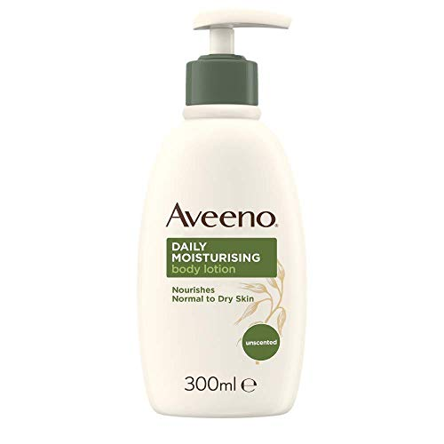 Aveeno Daily Moisturising Lotion, Moisturises for 24 Hours, Body Lotion for Normal to Dry Skin Care, 300ml