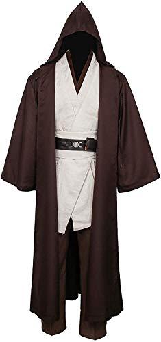 YBINGA Disfraz medieval para hombre, túnica con capucha, capa de capa, traje de Halloween para cosplay, para adultos, accesorios de cosplay (talla XXL)