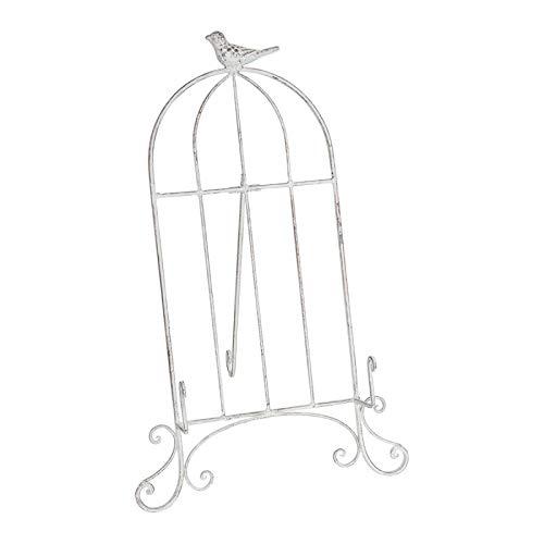 MATHILDE M. Atril de mesa de hierro blanco efecto envejecido para revistas Menú Libres