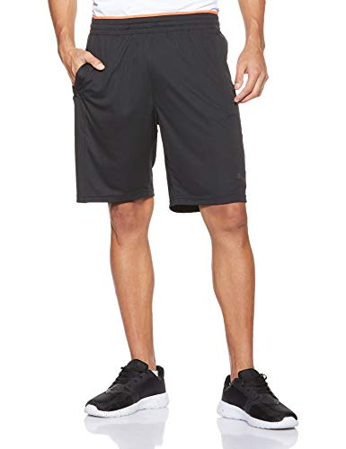 PUMA Collective Knit Short Pantalones Cortos, Hombre, Black-Nrgy Red, M