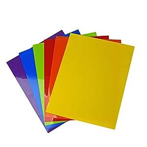 Vaessen Creative Plástico Mágico, Set Multicolor, Surtido 6x2 Hojas, Tamaño A5, Divertidos Proyectos de Arte y Manualidades para Todas Las Edades