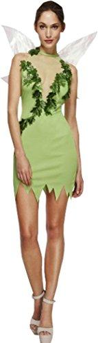 Frauen Fever Magische Fee Kostüm Sexy Tinkerbell Fancy Kleid Lady Pixie Outfit Gr. Kleid 38-40, grün