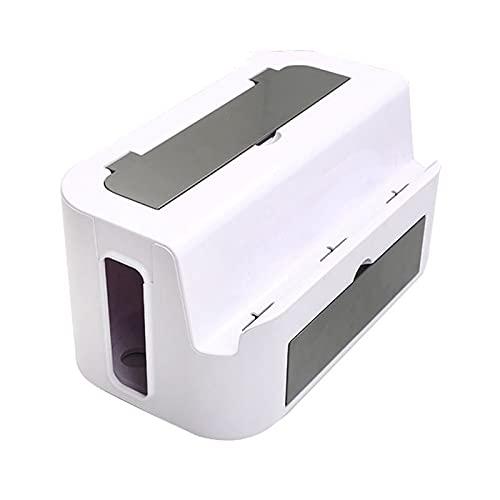 Caja de almacenamiento de cable blanco Caja de administración de cables multifuncional...