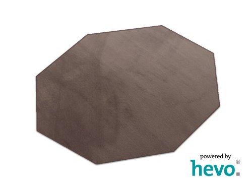 HEVO Romeo braun Teppich   Kinderteppich   Spielteppich 200 cm Achteck