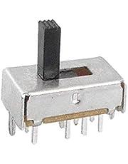 X-DREE 10pcs 6mm Perilla alto rendimiento 3 Posición DP3T esencial 2P3T Mini Interruptor Bie_n hecho Deslizante Vertical(4ed-82-9b-917)