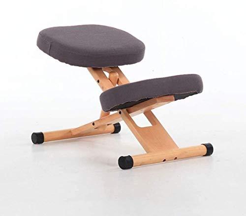 Ergonomische Kniend Stühle Massiv Büro Leinen mit schräger Sitzhaltung Korrektur Kneel Hocker Relieving Verbesserung Zurück Nackenschmerzen Sessel (Color : Grey)