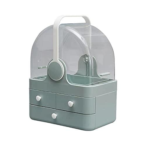 Caja de almacenamiento cosmética Organizador de maquillaje Caja de almacenamiento de joyas Lápiz labial titular pendientes collar cajón estante de escritorio transparente amarillo