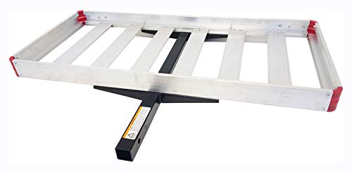 MaxxHaul 70422 48' x 21' Hitch Mount Compact Aluminum Cargo Carrier - 500-lb Load Capacity