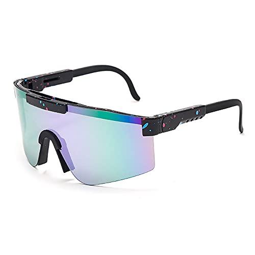 NAINAIWANG Gafas de Sol polarizadas Deportivas Gafas de protección UV400 Unisex Al Aire Libre A Prueba de Viento Ciclismo Pesca Golf Gafas para Hombres Mujeres Ciclismo Béisbol Pesca Golf