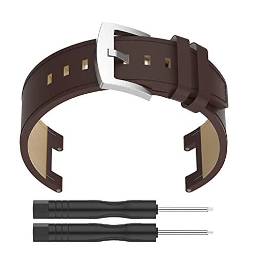 ibasenice Läder Watch Band Band Kompatibel Med T- Rex Atel Och T- Rex Pro Watchband Armband Ersättning Klocka Tillbehör Kaffe