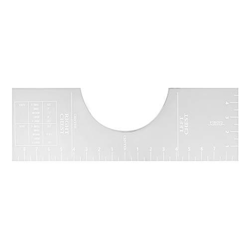 Tixiyu Rundhals-Ausrichtungswerkzeug, T-Shirt-Lineal Guide Acryl Vinyl T-Shirt Lineal Guide für Vinylpresse und Sublimation HTV Heißpressen