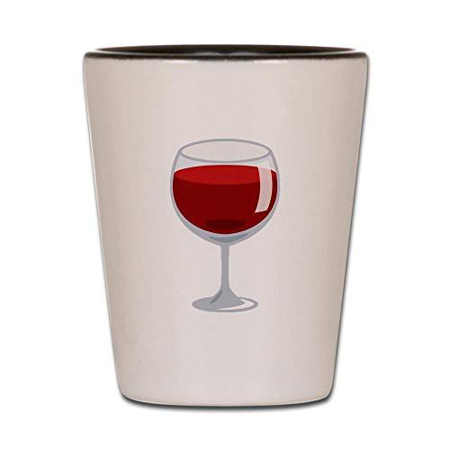 CafePress Weinglas Emoji Schnapsglas weiß/schwarz