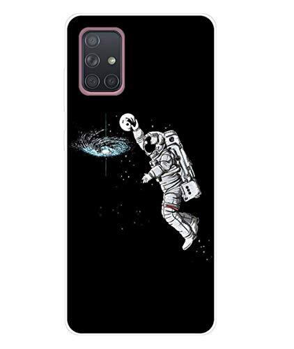 Homikon Silikon Hülle Karikatur TPU Tasche Handyhülle Transparente Durchsichtig Kirstall Clear Ultra Dünn Schutzhülle Stoßdämpfend Case Cover Kompatibel mit Samsang Galaxy A71 - Raum