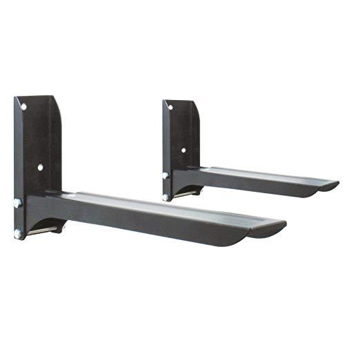 DRALL INSTRUMENTS Universal Mikrowellen Wandhalterung Halter für Küche Grillofen Backofen Regal Rack bis 25 Kg belastbar schwarz Modell: H74B