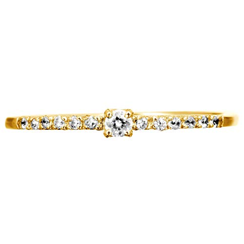 [ココカル]cococaru ダイヤモンド リング K18 ピンクゴールド 指輪 6号 ピンキーリング 重ね付け 天然 ダイヤ 日本製