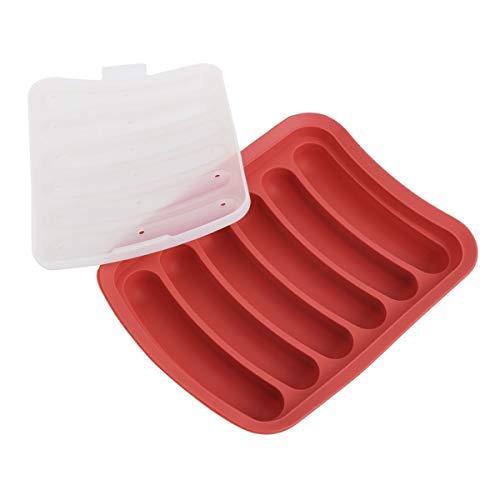 SDHF Silicona Patty Makers 6 Cavidad Salchicha Haciendo Gadgets molde con herramientas de cocina Accesorios de cocina (Color : Rojo, Size : One Size)