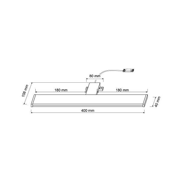 ba/ño IP44 1300 lm l/ámpara de sujeci/ón aluminio l/ámpara de montaje SEBSON/® L/ámpara LED para espejo de 90 cm 15 W blanco neutro 4000 K luz de maquillaje 900 x 98 x 21 mm