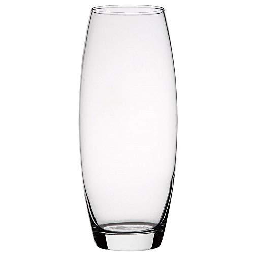 Hogar y Mas Jarrón Cristal Transparente 26 cm. Floreros Decorativos Moderno, Flores Decoración 26 x 8cm