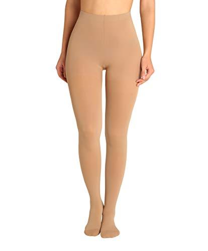 ®BeFit24 Kompressionsstrumpfhose medizinisch (23-32 mmHg, 120 Den, Klasse 2) für Damen - Strumpfhose - Stützstrumpfhose - Kompressionshose - Thrombosestrumpfhose [ Größe 4 - Lang: A - Beige ]
