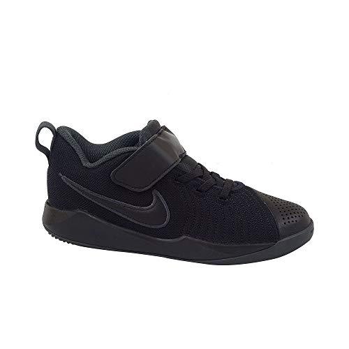 Nike Team Hustle Quick 2 (PS) Boys' Basketball Shoe (Black, 2Y)