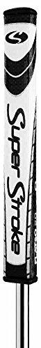 """Super Stroke Flatso 3.0 Putter Grip, Oversized, Lightweight Golf Grip, Non-Slip, 10.50"""" L X 1.40"""" W, USGA Approved, White/Black"""