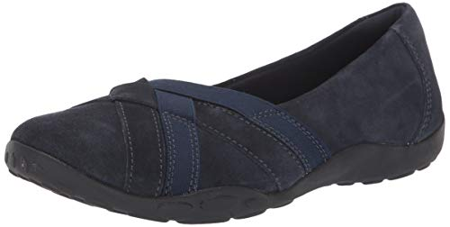 Clarks Women's Haley Jay Loafer Flat, Navy Suede, 095 M US
