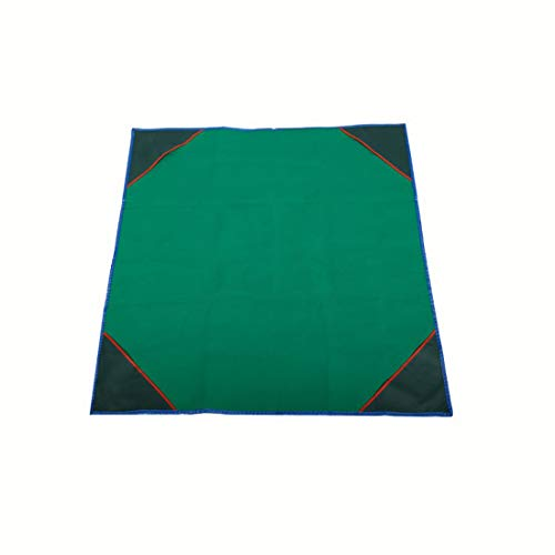 NuoEn Foldable Table Cover for Mahjong,Poker, Card Games, Board Games, Tile Games, Dominoes,Poker Mat Anti Slip and Low Noise,95X95cm ( Color : Green , Size : 95cm95cm )
