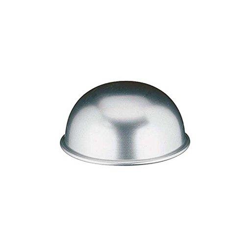 Decora Mezza Sfera, Alluminio, Argento, Diametro 20 cm