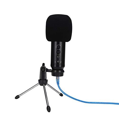 Micrófono de computadora capacitivo, micrófono de reducción de ruido, plug and play,...