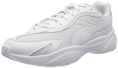 PUMA Ascend Lite, Sneaker Unisex-Adulto, Bianco White/High Rise/Metallic Silver, 47 EU