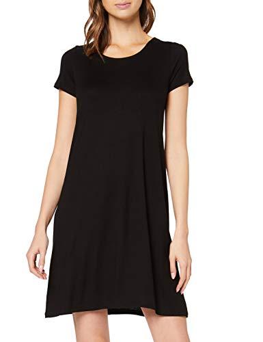 ONLY Damen onlBERA Back LACE UP S/S Dress JRS NOOS Kleid, Schwarz (Black Black), 36 (Herstellergröße: S)