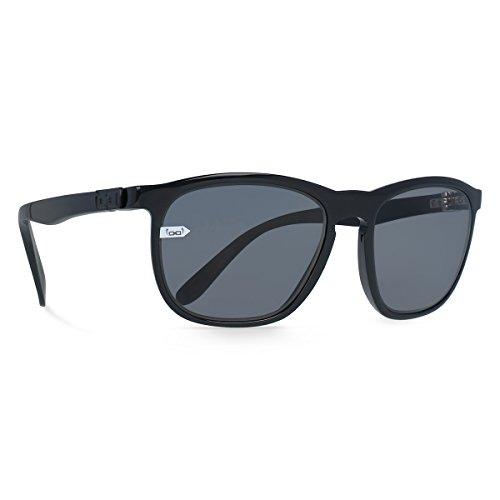 gloryfy unbreakable eyewear Unisex– Erwachsene Gi13 Soho Sun black Sonnenbrille, schwarz, Uni