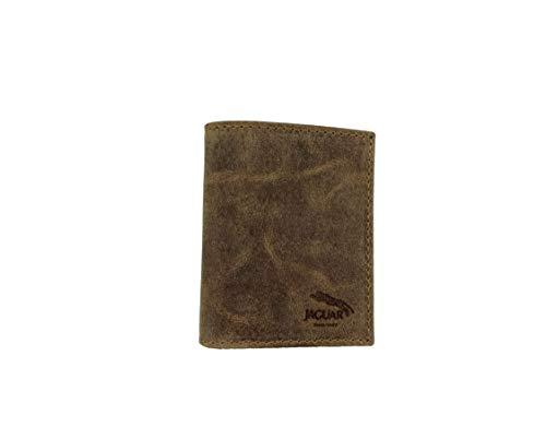 JAGUAR. Cartera de Caballero Fabricada en Piel y Lona colección Oregón Mod.1570 OG (marrón)