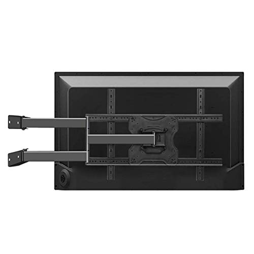 Supporto da parete per TV inclinabile e girevole con bracci estensibili doppi per impieghi gravosi per televisori piatti e curvi da 32-55 pollici fino a 30 kg Max VESA 600 x 400 mm Supporto a parete p