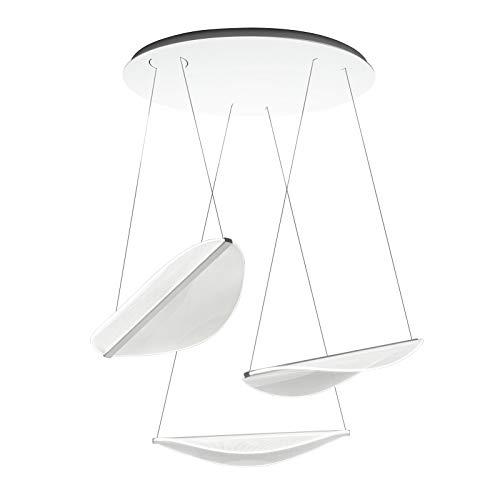 Diphy - Lampada a sospensione in plastica e alluminio, realizzata a mano in Italia, design moderno, lampada a LED