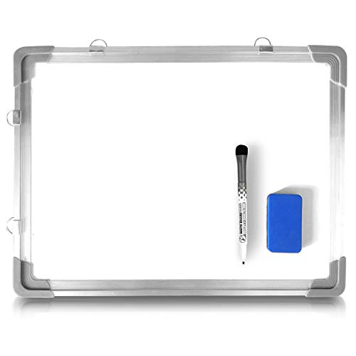 Dry Erase Marker Board - 12' x 16' Magnetic Hanging White Board for Door or Wall - Handheld Erasable Whiteboard for Students or Kids Home School Learning - Includes Marker and Easy Wipe Eraser