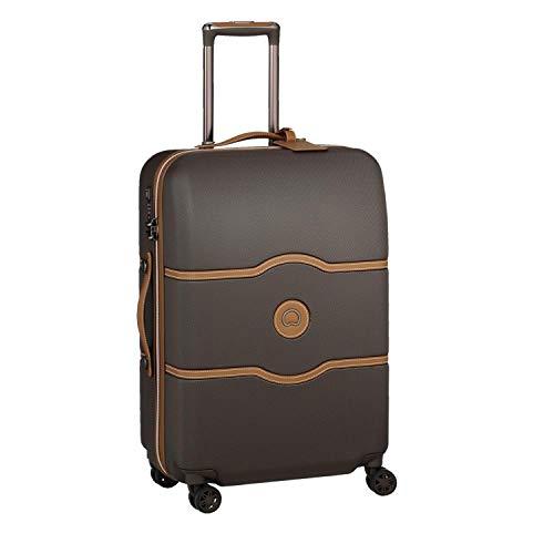 Delsey Paris CHATELET AIR Luxus Trolley / Koffer 67cm mit gratis Schuhbeutel und Wäschebeutel 4 Doppelrollen TSA Schloss