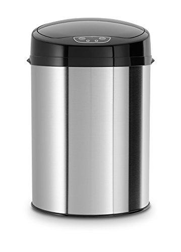 Echtwerk EW-BE-0239 Infrarot Badabfalleimer, 9 L,Silber Dunkel