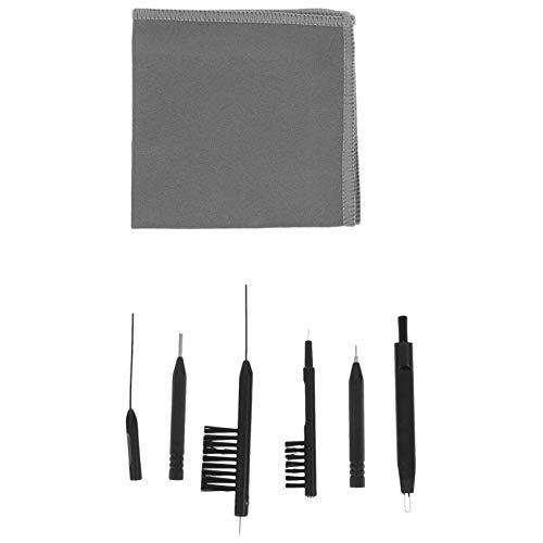 UKCOCO 7Pcs Kit Limpiador de Audífonos- Cepillos para Audífonos Audífonos Varilla de Limpieza Herramientas de Limpieza para Audífonos Suministros de Limpieza