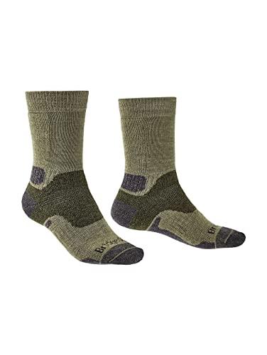 Bridgedale Herren B Explorer Heavyweight Merino Comfort Socken, grün, Large