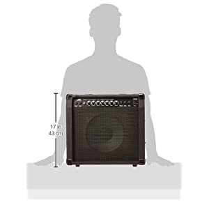 Monoprice 40-Watt 1x10 Guitar Combo Amplifier - Black with Spring Reverb, 10 inch 4-ohm Speaker, High & Low Inputs, Headphone Output For Electric Guitars
