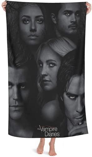 QWAS Toalla de playa de The Vampire Diaries, toalla de baño o playa, viaje, toalla de secado rápido, súper absorbente (4,100 × 200 cm)