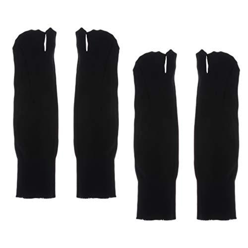 Sharplace 2/3 Pares Pares de Calcetines Divididos de 2 Dedos con Chanclas Tabi/Ninja/Geta Unisex Negro - Negro, tal como se describe