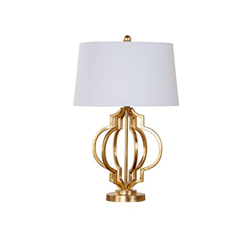 JPVGIA Bedroom Bedside Table Lamp,Living Room Interior Lighting American Country Simple Desk Lamp Wrought Iron Table Light