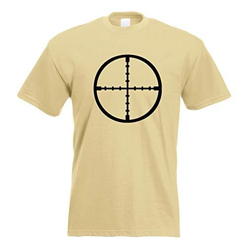 Cannocchiale Crosshair T-Shirt in 15 Diversi Colori - Man Print Fun Pattern Modello in Cotone S M L XL XXL