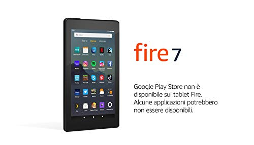 Tablet Fire 7, pantalla de 7'', 16 GB (Negro) - Con publicidad