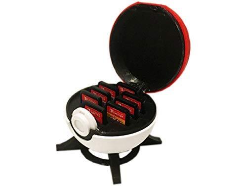 Case Suporte Pokebola Para Jogos Cartuchos Nintendo Switch